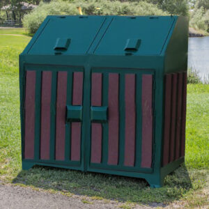 Large Slatted Bear Proof Trash Can.